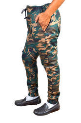 Men's Green Camouflage Joggers