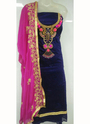 Hand Work Chanderi Regular Wear Salwar Suit