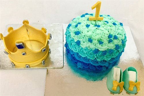 Wondrous Customized Birthday Cakes 1St Birthday Little Prince Cake Funny Birthday Cards Online Aeocydamsfinfo