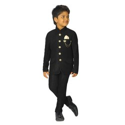 Male Black Baba Kids Suit