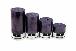 Lavender Scented Pillar Candle Set