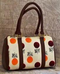 Azzra Casual Formal Fabric Duffel Handbag