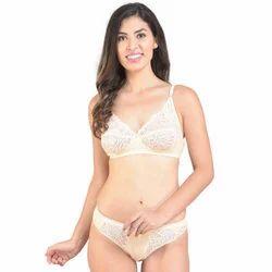 d21559865 Maroon Cotton Plan Bra Panty Set