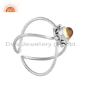 Natural Citrine Gemstone 925 Silver Oxidized Finish Women's Ring