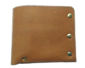 Tan Leather Rough Wallet