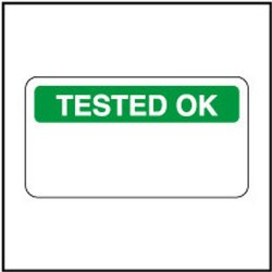 140379 Tested Ok Sticker Label