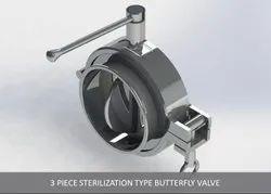 Sterilization Type Butterfly Valve