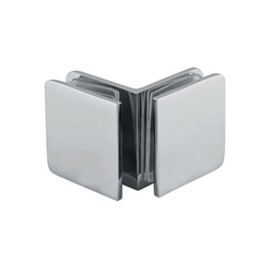 Stainless Steel Glass to Glass Connector 90 Degree