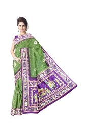 Kasab And Thread Work Design Gaji Silk Bandhani Saree