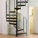 Half Turn Stainless Steel Spiral Stairs, For Bungalow