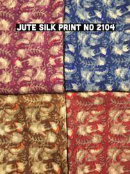 Jute Silk Print Fabric