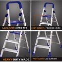 Parasnath Home Pro 7 Step Light Weight Aluminum Heavy Duty Folding Ladder