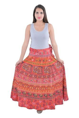 a6610f6b971 Women Cotton Mandala Indian Red Elephant Rapron Skirts