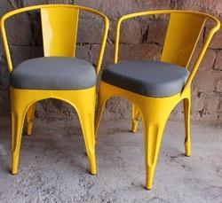 Chair With Fabric Cushion Powder Coated