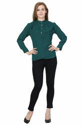 Peacock Green Ladies Top