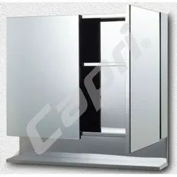 Capri S.S. Mirror Cabinate Double Door