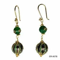 Green Party Kundan Earring