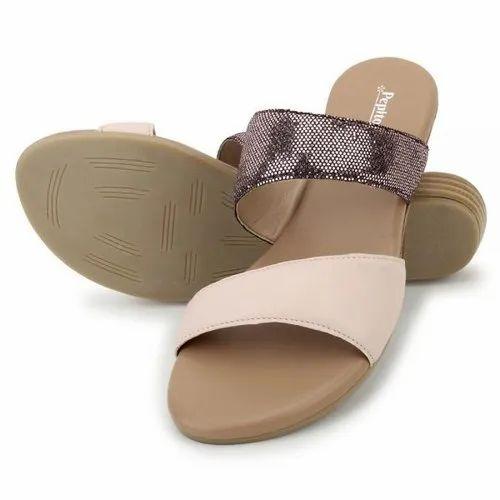 Nude Rose Gold Comfort Slip-On Flat
