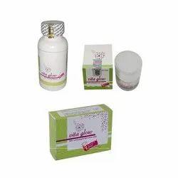 Vita Glow Glutathione Skin Whitening Night Cream Capsules and Soap