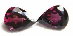 Rhodolite Garnet Faceted Pear Pair Gemstone