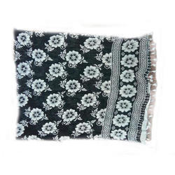 GP-D237 Cotton Black and White Dupatta
