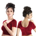 Abhi Stretchable Soft Velvet With Half Sleeves Blouse