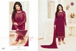 Magenta Georgette Heavy Embroidered Women's Salwar Suit