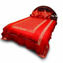 5 Piece Jaipuri Silk Double Bed Cover Set 205