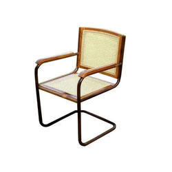 Steel S Type Full Arm Wire Netted Chair