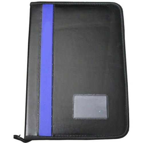 dd4bc6afbce Leather Black And Purple Portfolio File Folder
