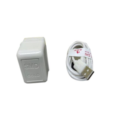 Electric White Mobile Charger, Packaging Type: Box