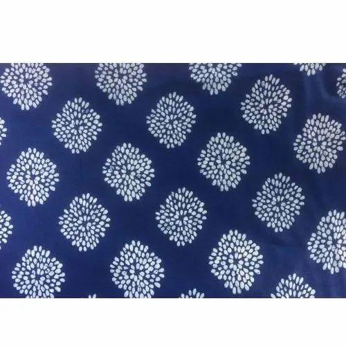 Blue Printed Cotton Fabric