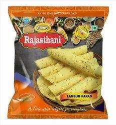 Chana Masala Lahsun Papad
