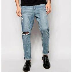 Y/N Blue Mens Light Wash Denim Jeans
