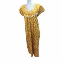 Ladies Cotton Half Sleeves Maxi, Size: S - XL