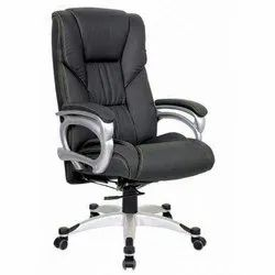 Black Leather Designer Office Revolving Chair, Warranty: 1 year