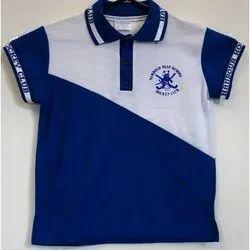 Blue Deewills Cotton Kids School T Shirt