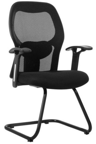 Leather And Fabric Black Mesh Office Chair 16 Adjule Seat Height No