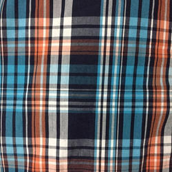Multicolor Cotton Checks Shirting Fabric