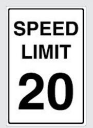 20 Km Speed Limit Signs
