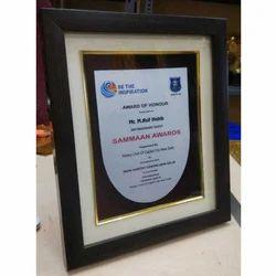 Wooden Certificate Award