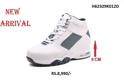 White Elevator Shoes With 9 Cm Height