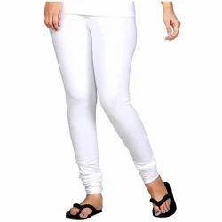 0ab663424de97 Churidar Casual White Soft Cotton 2way Stretchable Legging, Size: L To XXL