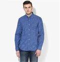 Blue Checks Regular Fit Casual Shirt