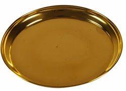 Round Brass Utensil Plate