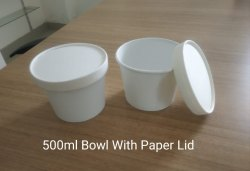 500 ML Bowl With Paper Lid