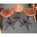 Cast Iron Bar Stool With Mango Wood Top