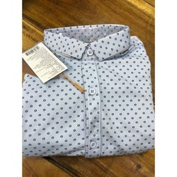 Cotton Collar Neck Polka Dots Shirt