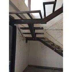 Outdoor Black Mild Steel Staircase
