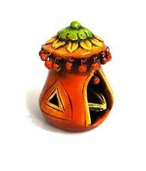 Terracotta Temple Tea Light Holder, Shape: Cage Shaped